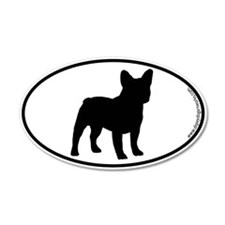French Bulldog SILHOUETTE 35x21 Oval Wall Peel