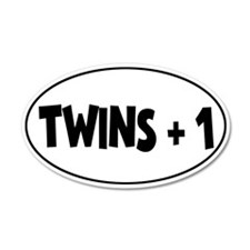 Twins Plus One - 35x21 Oval Wall Peel