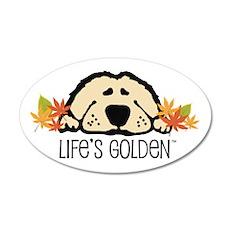 Life's Golden Fall 35x21 Oval Wall Peel