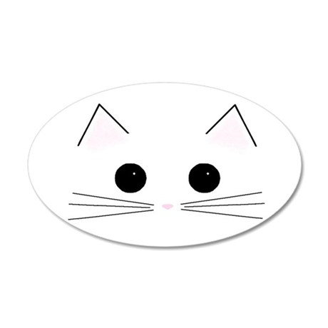 Kitty Face 20x12 Oval Wall Peel