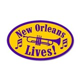 NOLA LIVES! 20x12 Oval Wall Peel