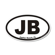 Jupiter Beach JB Euro 35x21 Oval Wall Peel