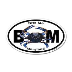 Maryland Blue Crab Euro 20x12 Oval Wall Peel