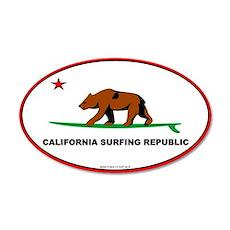 Ca. Surfing Republic 20x12 Oval Wall Peel