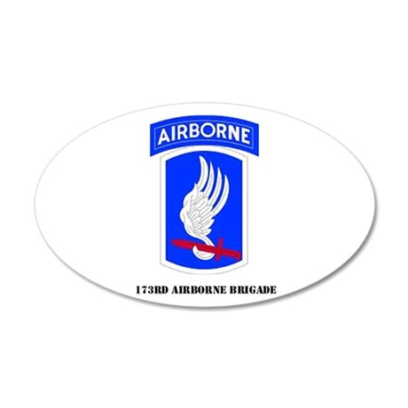 173rd Airborne Brigade 20x12 Oval Wall Peel