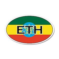 Ethiopia Flag 20x12 Oval Wall Peel