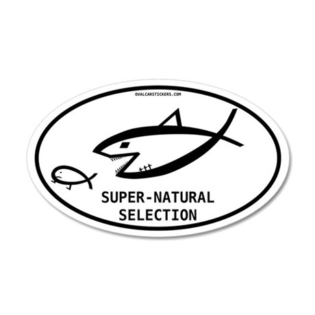 Super-natural Selection 35x21 Oval Wall Peel