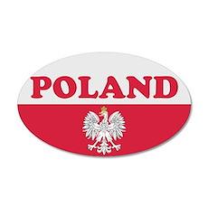 Poland Sticker-v2 35x21 Oval Wall Peel