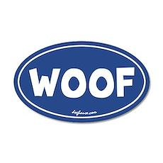 Woof (Blue) 20x12 Oval Wall Peel