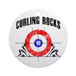 Curling Rocks! Ornament (Round)