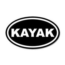 Kayak Euro 35x21 Oval Wall Peel