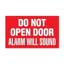 Do Not Open Door Alarm Will Sound Sticker