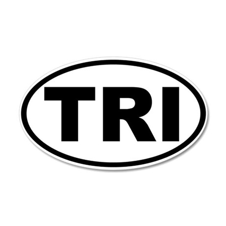 Triathlon TRI Oval Euro Sticker