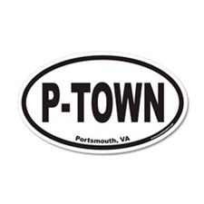 Portsmouth Virginia P-TOWN Euro 35x21 Oval Wall Pe