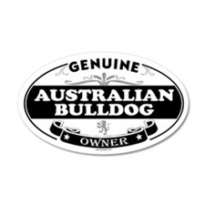 AUSTRALIAN BULLDOG 35x21 Oval Wall Peel