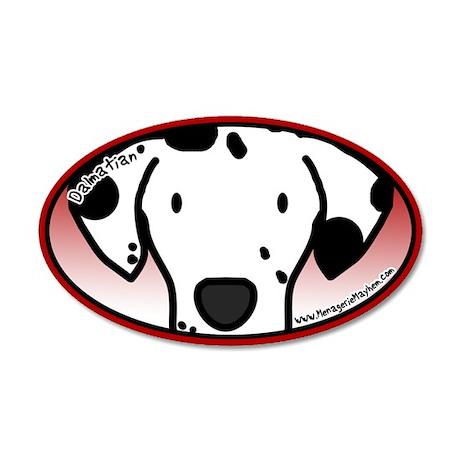 Anime Dalmatian 35x21 Oval Wall Peel