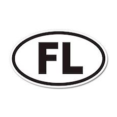 Florida FL Euro 20x12 Oval Wall Peel (non-branded)