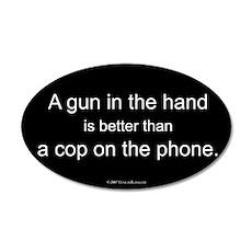 Gun in Hand 35x21 Oval Wall Peel