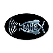 Babel Fish 35x21 Oval Wall Peel