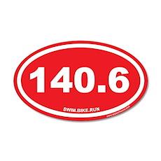 140.6 Swim Bike Run Ironman Red 20x12 Oval Wall Pe