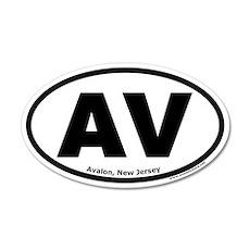 "Avalon, New Jersey ""AV"" 20x12 Oval Wall Peel"