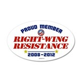 Right-Wing Resistance 20x12 Oval Wall Peel