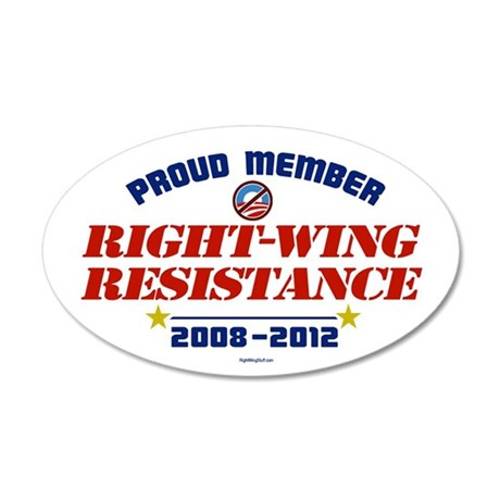 Right-Wing Resistance 35x21 Oval Wall Peel