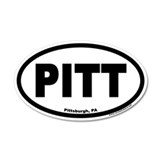 Pittsburgh PA PITT Euro 20x12 Oval Wall Peel