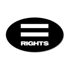 EQUAL RIGHTS - 20x12 Oval Wall Peel