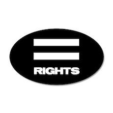 EQUAL RIGHTS - 35x21 Oval Wall Peel