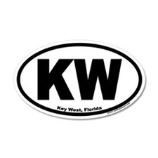 "Key West, Florida Euro Oval ""KW"" Sticker"