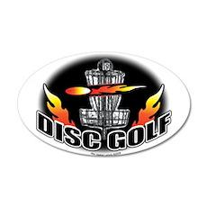 Flammin Disc Golf 20x12 Oval Wall Peel