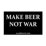 MAKE BEER NOT WAR - 35x21 Wall Peel