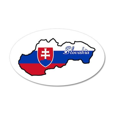 Cool Slovakia 20x12 Oval Wall Peel