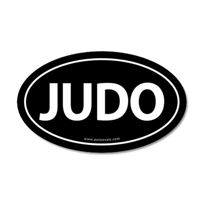 Judo Auto Sticker Traditional -Black (Oval)