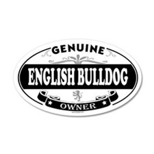 ENGLISH BULLDOG 20x12 Oval Wall Peel