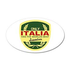 Italia Scooter 35x21 Oval Wall Peel