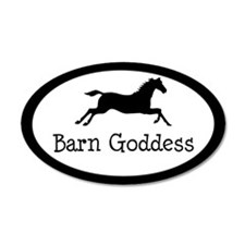 Barn Goddess - 35x21 Oval Wall Peel