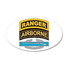 CIB with Ranger/Airborne Tab 35x21 Oval Wall Peel