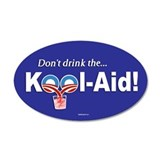 Obama Kool-Aid 35x21 Oval Wall Peel