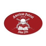 American Patriot Since 1776 20x12 Oval Wall Peel