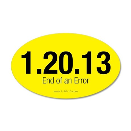 End of an Error Yellow Sticker