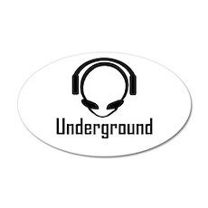 Alien Head Underground 35x21 Oval Wall Peel
