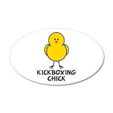 Kickboxing Chick 35x21 Oval Wall Peel