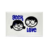 Geek Love Rectangle Magnet