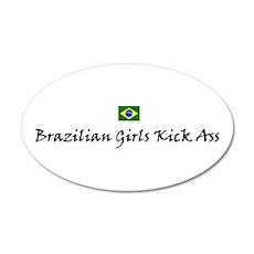 Brazilian Girls 20x12 Oval Wall Peel