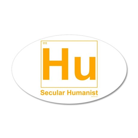 Secular Humanist 20x12 Oval Wall Peel