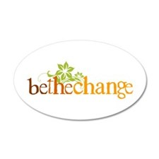 Be the change - Earthy - Floral 35x21 Oval Wall Pe