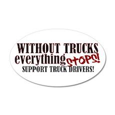 Trucker Support 20x12 Oval Wall Peel