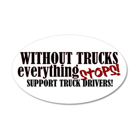 Trucker Support 35x21 Oval Wall Peel